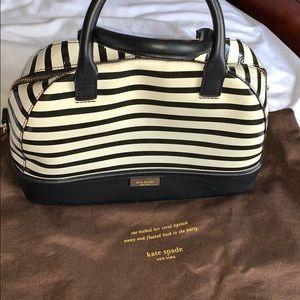 Kate Spade Black & White Striped Handbag